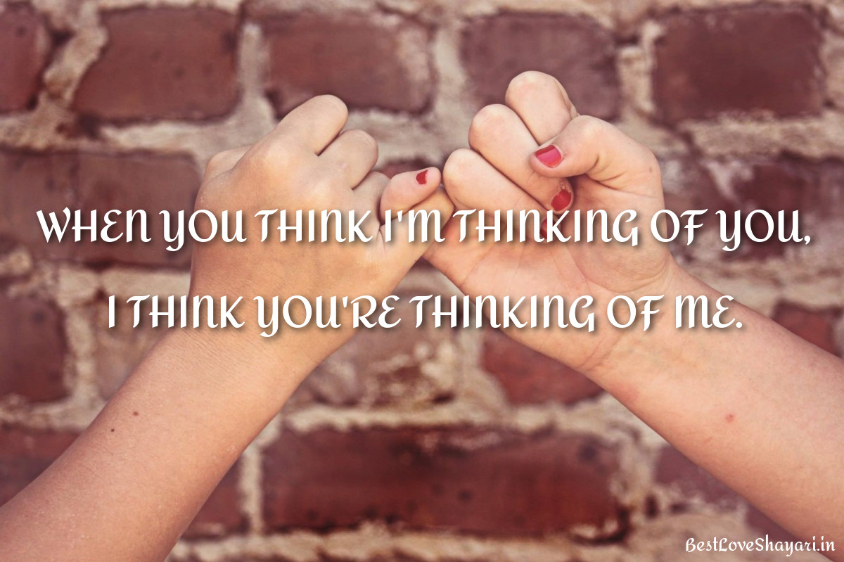 when you think...
