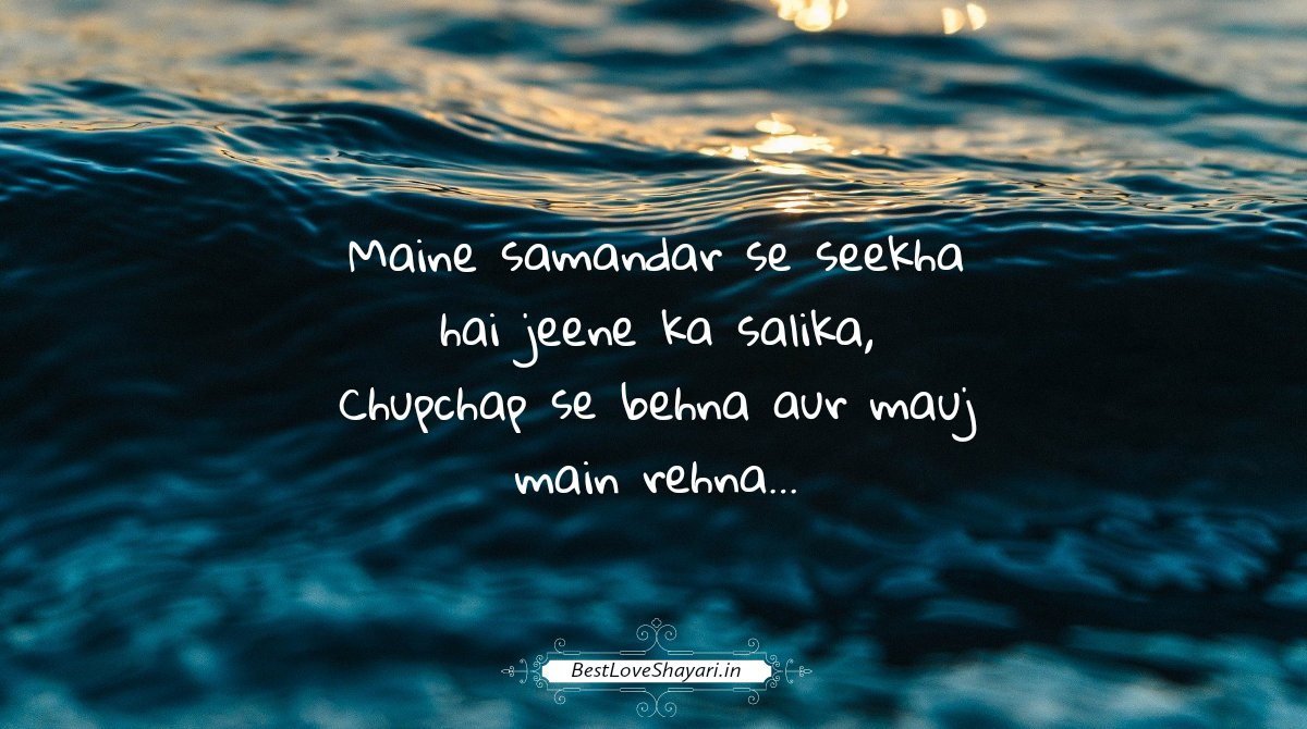 Motivational Shayari - Maine samandar se seekha hai jeene ka salika