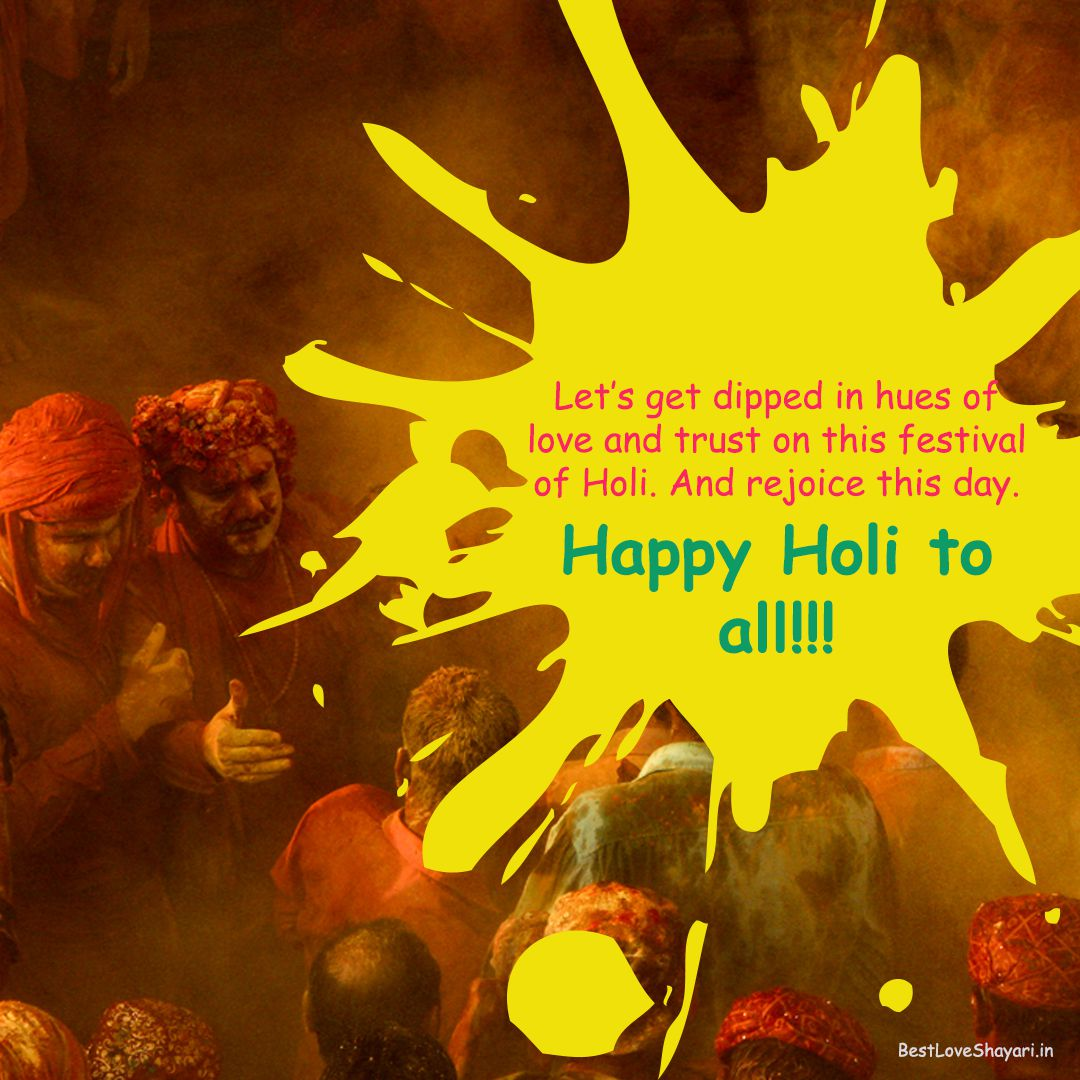 Holi wishes and quotes in Engish...