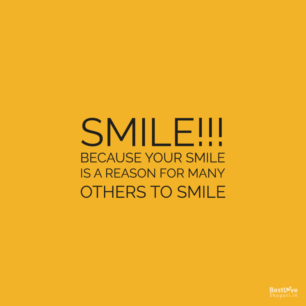 English quotes on smile...
